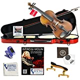 Ricard Bunnel G1 Violin Outfit 4/4 (Full) Size in Hard Shell Case (Rockstar Red)