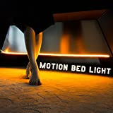 Motion Sensor Activated Night Light with Timer, LED Strip Lighting, Plug in Under Bed Light for Todder Bed Adult Bedside Lighting, Warm Soft Glow, Glare Free (Dual Strips for Queen bed£#3MSC108W
