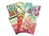 Colorful Geometric Tribal Daydream School Supply Bundle: 6 Items: Six Assorted Kittrich Subject Folders