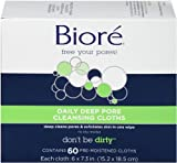 Bioré Daily Deep Pore Cleansing Cloths, 60 Count