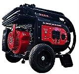 All Power America G10000EGL 10000 Watt Dual Fuel Heavy Duty Portable Generator w/ Electric Start, Gas/Propane, Power Back Up, Black