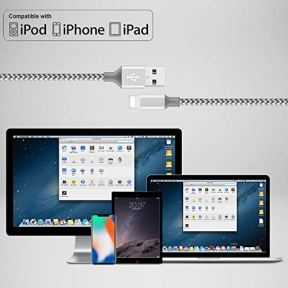 WILLTOP-iPhone-Charger-Cord-CableMFi-Certified-Lightning-Cable-5-Pack-336610FT-Nylon-Braid-iPhone-11-ProXs-MaxX87-Plus-6S-with-Compatible-Metal-connectors-6-SE-5S-iPad