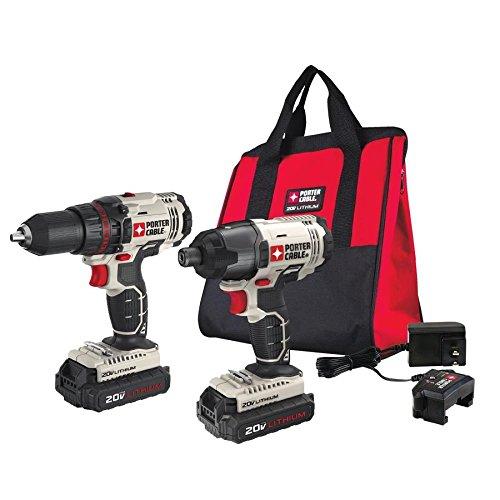 PORTER CABLE PCCK604L2 20V MAX 2-Tool Cordless Drill/Driver and Impact Driver Combo Kit
