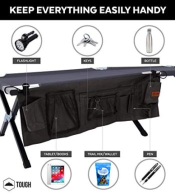 Tough-Outdoors-Camping-Cot-Folding-MilitaryArmy-Camp-Bed-for-Adults-Portable-Heavy-Duty-Sleeping-Cots-for-Camping-Hunting-Backpacking-Foldable-Free-Organizer-Storage-Bag