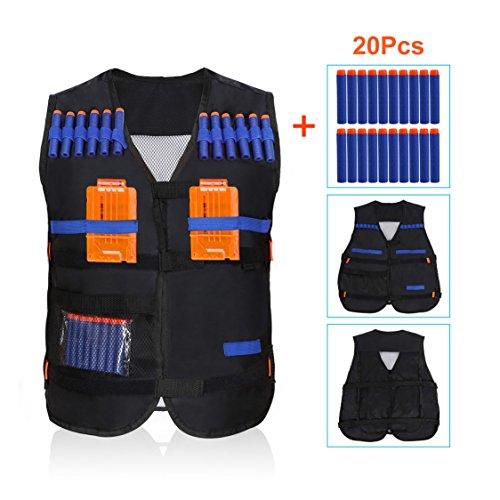 Tactical Vest Kit for Nerf Guns N-Strike Elite Series Camouflage Vest  Safety New