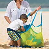 ILLUMINET Large Mesh Beach Bag: Beach Tote, Great for Beach Toys, Toy Bag, Swimming Bag, Sand Bag to Carry Your Beach Towel and All Your Beach Gear - Blue