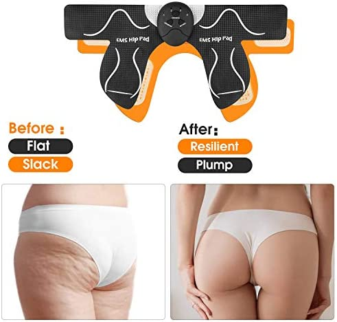 MOICO Butt Hip Trainer, 2020 Upgrade Muscle Toner Fitness Training Gear with 10 Pcs Free Gel Pads, Home Office Exercise Equipment, Ab Trainer Workout Equipment Electric Machine for Women Men Mom 8
