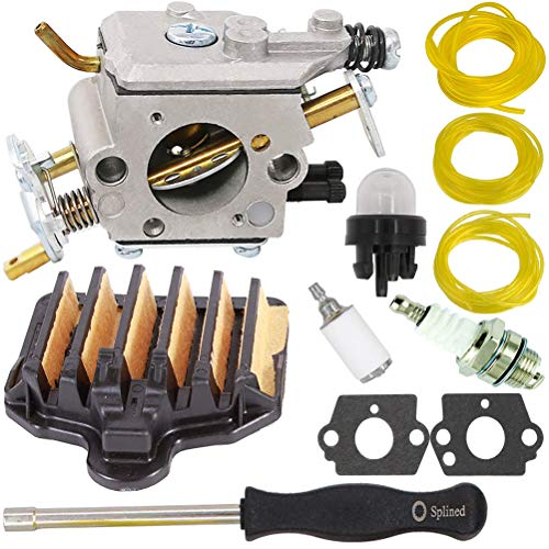 TOPEMAI PP5020AV Carburetor with 575296301 Air Filter for Poulan PP5020 2 Stroke Gas Chainsaw Replace 573952201 C1M-W47 Craftsman 358.350982