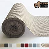 Gorilla Grip Original Drawer and Shelf Liner, Non Adhesive Roll (12' x 20' Size) Durable and Strong, for Drawers, Shelves, Cabinets, Storage, Kitchen and Desks (Beige)