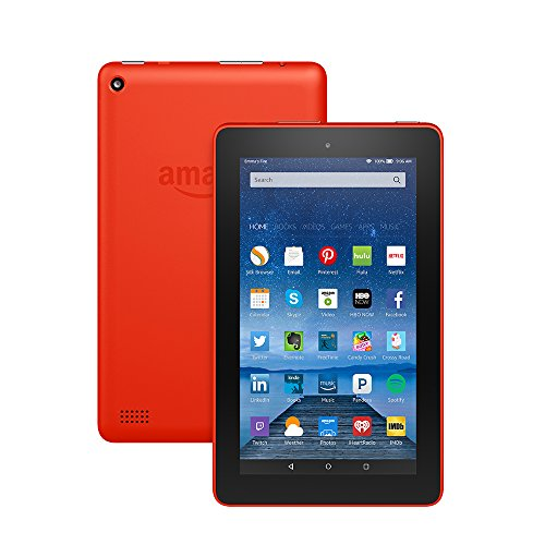"""Fire Tablet, 7"""" Display, Wi Fi, 8 GB   Includes Special Offers, Tangerine  Image of 517E02mXKtL"""
