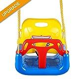 Jaketen 3-in-1 Toddler Swing Seat Hanging Swing Set for Playground Swing Set,Infants to Teens Swing (Blue)