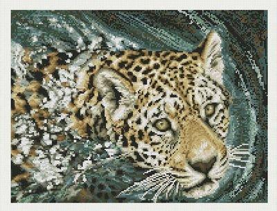 Janlynn Jaguar Swimming Counted Cross Stitch Kit