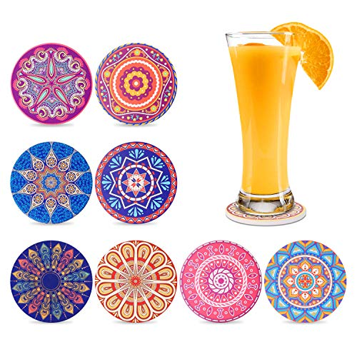 Coasters-for-Drinks-Absorbent-drink-coasters-with-Holder-Ceramic-Coasters-for-Drinks-Cups-Bar-Table-Coasters-Round-Stone-Cork-Base-Mandala-Style-8-Pack