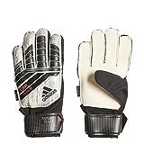 adidas Predator Junior Soccer Gloves,White/Silver Metal/Black/Solar Red,Size 6