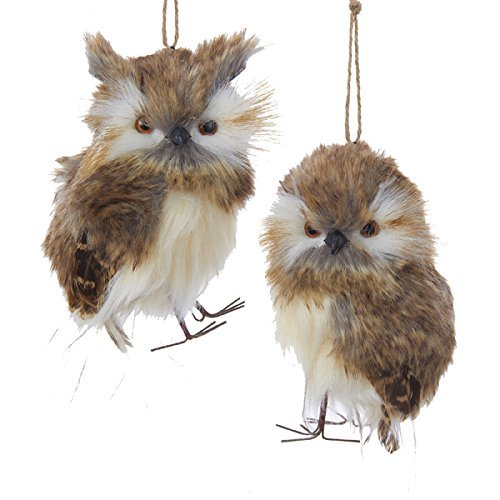 Kurt Adler Plush Brown Owl Ornament
