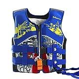 WYTbaby Kids Swim Vest Neoprene Float Swimming Jacket Boys Swimwear Blue, 7-10 Years
