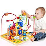Large Wooden Bead Maze First Toddlers Learning Toy Activity Center Educational Toys for Baby (Activity Center)