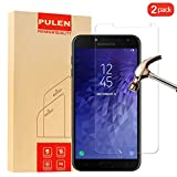 PULEN [2-Pack] SamsungGalaxyJ42018 Screen Protector, HD Clear Film[Scratch Resistant Anti-Fall] [Bubble Free] [Anti-Fingerprints] 9H Hardness Tempered Glass for SamsungGalaxyJ42018