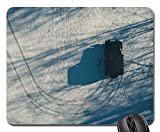 Mouse Pad - Snow Tire Tracks SUV Vehicle Winter Tire Track