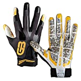 Grip Boost Stealth Football Gloves Pro Elite (Black/Gold, Large)