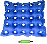 Air Inflatable Seat Cushion 17' X 17' for Wheel Chair, Office Chair, and Car - Coccyx Seat Cushion - Back Support, Tailbone and Sciatica Pain Relief