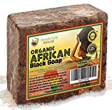 African Black Soap 1lb Bar   #1 Acne Treatment   Eczema Soap   60 day Satisfaction Guarantee