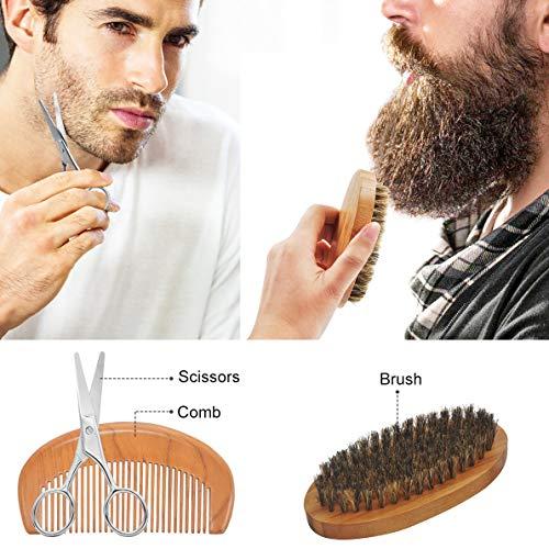 Upgraded Beard Grooming Kit w/Beard Conditioner,Beard Oil,Beard Balm,Beard Brush,Beard Shampoo/Wash,Beard Comb,Beard Scissors,Storage Bag,Beard E-Book,Beard Growth Care Gifts for Men 8