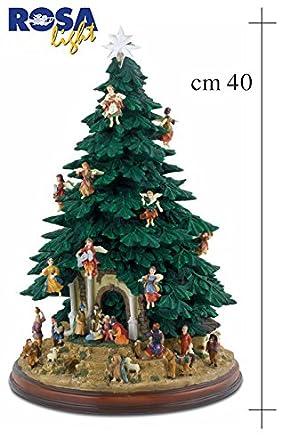 Albero Di Natale Già Addobbato A 360 Con Presepe