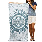 X-JUSEN Huntington York Bath Towel Bath Sheets, Beach Hand Turkish Towel Blanket Set for Home & Spa Collection Use
