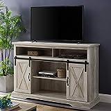 WE Furniture AZ52HBSBDWO TV Stand, 52', White Oak