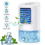Portable Air Conditioner Fan,Personal Desk Fan Space Air Cooler Mini Table Evaporative AC Ultra-Quiet Purifier...