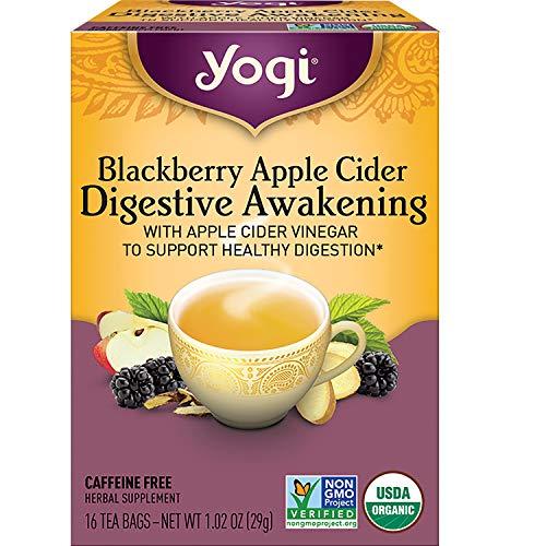 Yogi Tea - Blackberry Apple Cider Digestive Awakening - 4 Pack, 64 Tea Bags