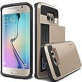Galaxy S6 Edge Case, Verus [Damda Slide][Shine Gold] - [Wallet Card Slot][Heavy Duty Protection] For Samsung Galaxy S6 Edge