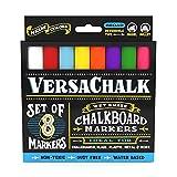 VersaChalk Liquid Chalk Chalkboard Markers, Neon Colors, Bold Tip, 8 Pens