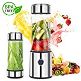 iFedio Personal USB Rechargeable Portable Smoothie Blender Mini Mixer Juicer Cup for Travel, Home licuadora portátil Food-Grade