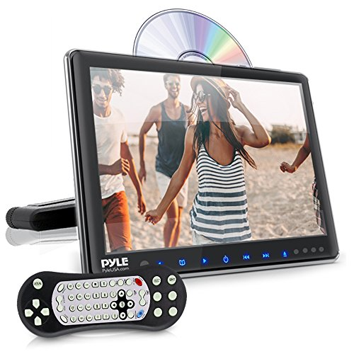 Universal Car Headrest Mount Monitor - 9.4 Inch Vehicle Multimedia CD DVD Player - Smart Audio Video Entertainment System w/HDMI & Hi-Res TV LCD Screen - Includes Mounting Bracket - Pyle PLHRDVD904