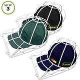 Evelots Ball Cap Washer for Washing Machines-Dish Washer-Visor Hat Cleaner-Set/3
