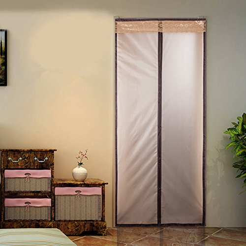 "Magnetic Thermal Insulated Door Curtain Enjoy Your Cool Summer And Warm Winter With Saving You Money Door Curtain Auto Closer Fits Doors Up To 34"" x 82"",36""x 82"",46"" x 82""MAX"
