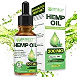 Organic Hemp Oil Extract Drops 300mg - Ultra Premium Pain Relief Anti-Inflammatory, Stress & Anxiety Relief, Joint Support, Sleep Aid, Omega Fatty Acids 3 6 9, Non-GMO Ultra-Pure CO2 Extracted