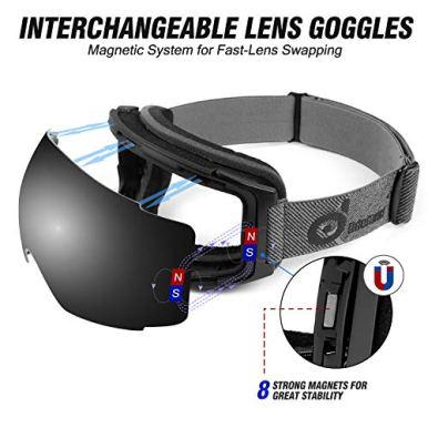 Odoland-Magnetic-Interchangeable-Ski-Goggles-with-2-Lens-Large-Spherical-Frameless-Snow-Goggles-for-Men-Women-OTG-and-UV400-Protection