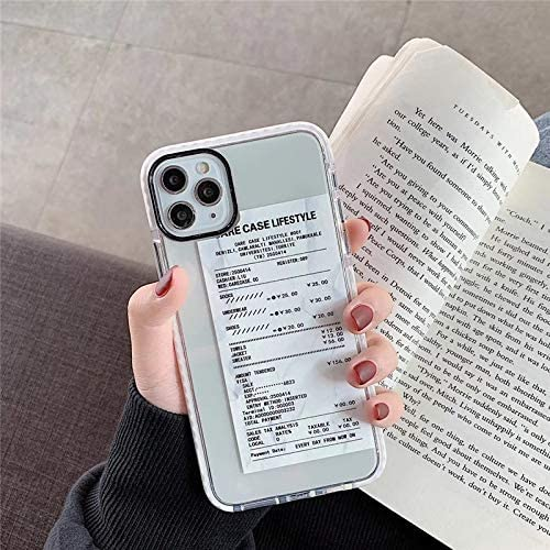 Amazon Com Runeee Luxury Receipt Phone Case For Iphone 11 Pro Max Xr X Xs Max 7 8 Plus Back Cover Cute Ticket Qr Code Barcode Soft Cases Color White Size