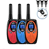 Walkie Talkies, 3 x Walkie Talkie Kids Befove 22 Channel Handheld FRS Transceiver Two Way Radios Long Range Walky Talky for Kids Adults, Camping Hiking Outdoor Use with Straps