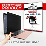 Akamai Office Products 14.0 Inch (Diagonally Measured) Privacy Screen Filter for Widescreen Laptops Anti Glare
