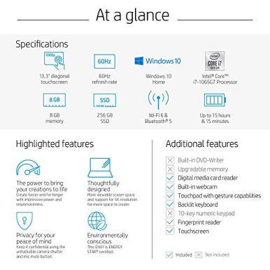 HP-Envy-13-Laptop-Intel-Core-i7-1065G7-8-GB-Ram-256-GB-SSD-Storage-133-Full-HD-Touchscreen-Windows-10-Home-Fingerprint-Reader-13-ba0010nr-2020-Model