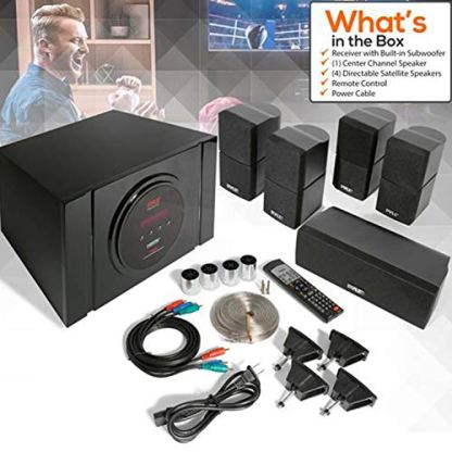 51-Channel-Home-Theater-Speaker-System-300W-Bluetooth-Surround-Sound-Audio-Stereo-Power-Receiver-Box-Set-w-Built-in-Subwoofer-5-Speakers-Remote-FM-Radio-RCA-Pyle-PT589BTBlack