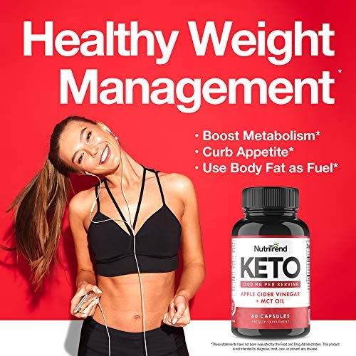 Keto Pills with Apple Cider Vinegar & MCT Oil, BHB Weight Loss Supplement, Detox Support and Immune Health, Manage Cravings & Improve Focus, Boost Energy & Metabolism - 30 Day Supply by NutriTrend 8