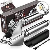 Alpha Grillers Garlic Press. Stainless Steel Mincer &...