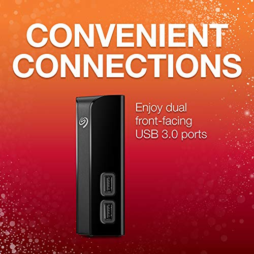 Seagate 6 TB Backup Plus Hub USB 3.0 Desktop 3.5 Inch External Hard Drive for PC and Mac with 2 Months Free Adobe Creative Cloud Photography Plan