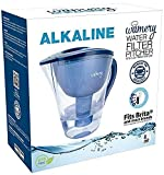 Alkaline Water Pitcher. Portable Filter System for Tap Water. Ionize, Filter, Clear, Increase PH and Improve Kitchen Faucet Water Taste. Avoid Bottles and Machines. Free Cartridge (8 Cups)