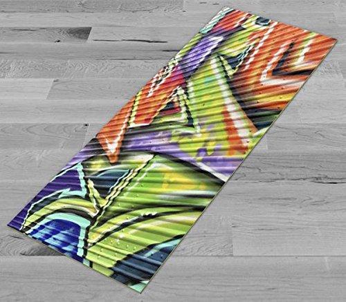 Pimp My Yoga Mat - Trailer Graffiti - Original Artwork 72x24 in Yoga Mat / Pilates Mat, 1/8 in Thick
